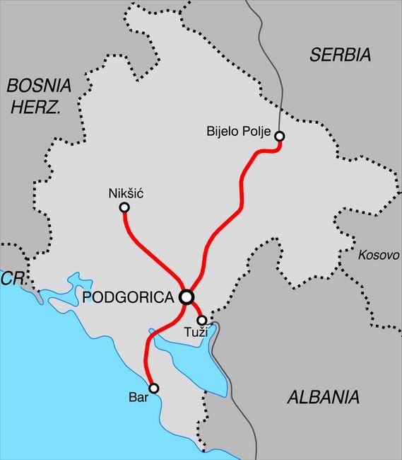 Черногорские железные дороги схема